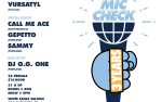 Image for MIC CHECK 3rd ANNIVERSARY SHOW, with VURSATYL, CALL ME ACE,GEPETTO, and SAMMY 21+