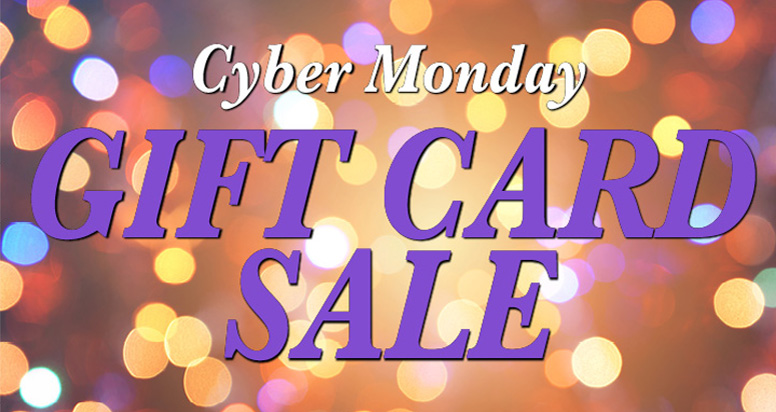 Cyber Monday Gift Card Sale