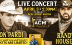 Image for Jon Pardi and Randy Houser live benefiting ACM Lifting Lives