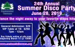 Image for 24th Annual Summer Disco Party 21 & over, valid ID required