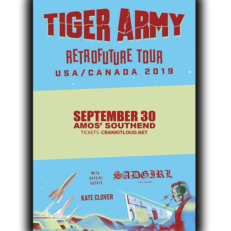 TIGER ARMY: Retrofuture Tour USA/CANADA 2019 - Amos