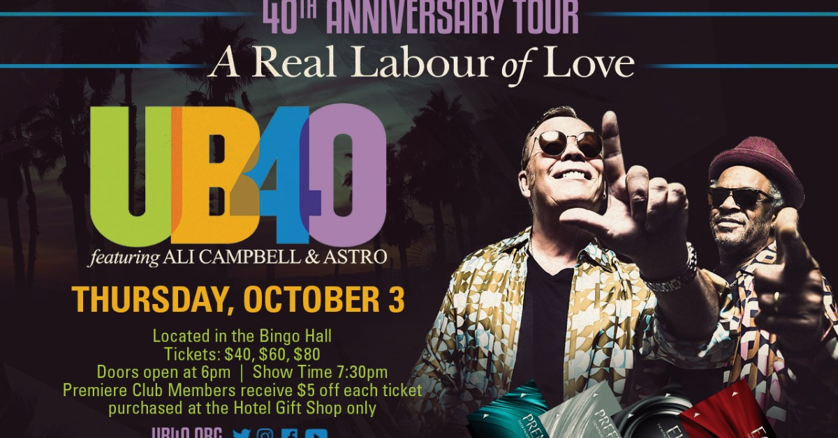 UB40 Featuring Ali Campbell and Astro at Tachi Palace Hotel