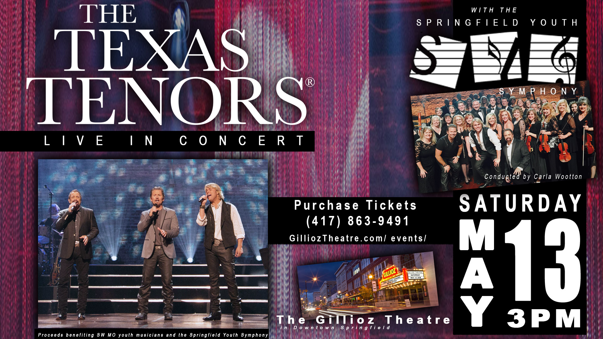 the texas tenors live in concert with the springfield youth symphony