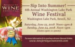Image for 6th Annual Washington Lake Park Wine Festival (June 23-24 - Ticket valid any ONE day)