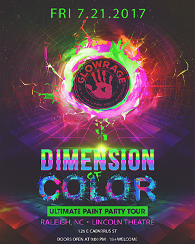 Glowrage Dimension Of Color Ultimate Paint Party Tour July