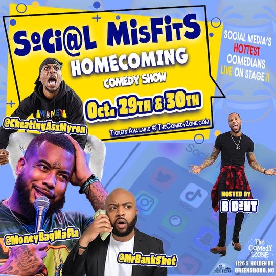 Social Misfits Homecoming Comedy Show (Special Event)