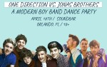 Image for BEST NIGHT EVER: ONE DIRECTION VS JONAS BROTHERS *Postponed from April 18th**