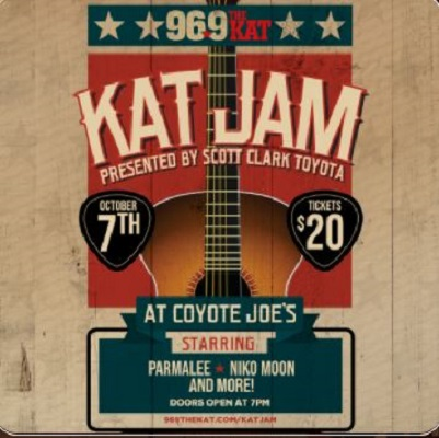 Image for 96.9 The Kat's Kat Jam  Presented by Scott Clark Toyota Ft. Parmalee, Niko Moon & More!