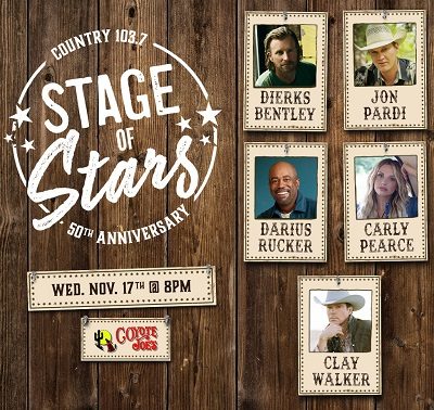Image for Country 103.7 Stage of Stars 50th Anniversary Show with Dierks Bentley, Jon Pardi, Darius Rucker, Carly Pearce & Clay Walker
