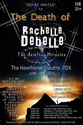 Image for RACHELLE DeBELLE & THE JAMFEST MIRACLES, with Linden Wood, and Bad Mother Nature