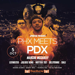 Image for PHX MEETS PDX  - A Multi State Hip Hop Show, ft Marcus McCauley