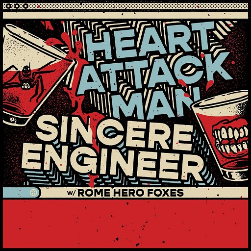 Image for HEART ATTACK MAN, SINCERE ENGINEER & GLACIER VEINS All Ages