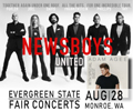 Image for NEWSBOYS with special guest Adam Agee Wednesday 8-28-19 at the Evergreen State Fair