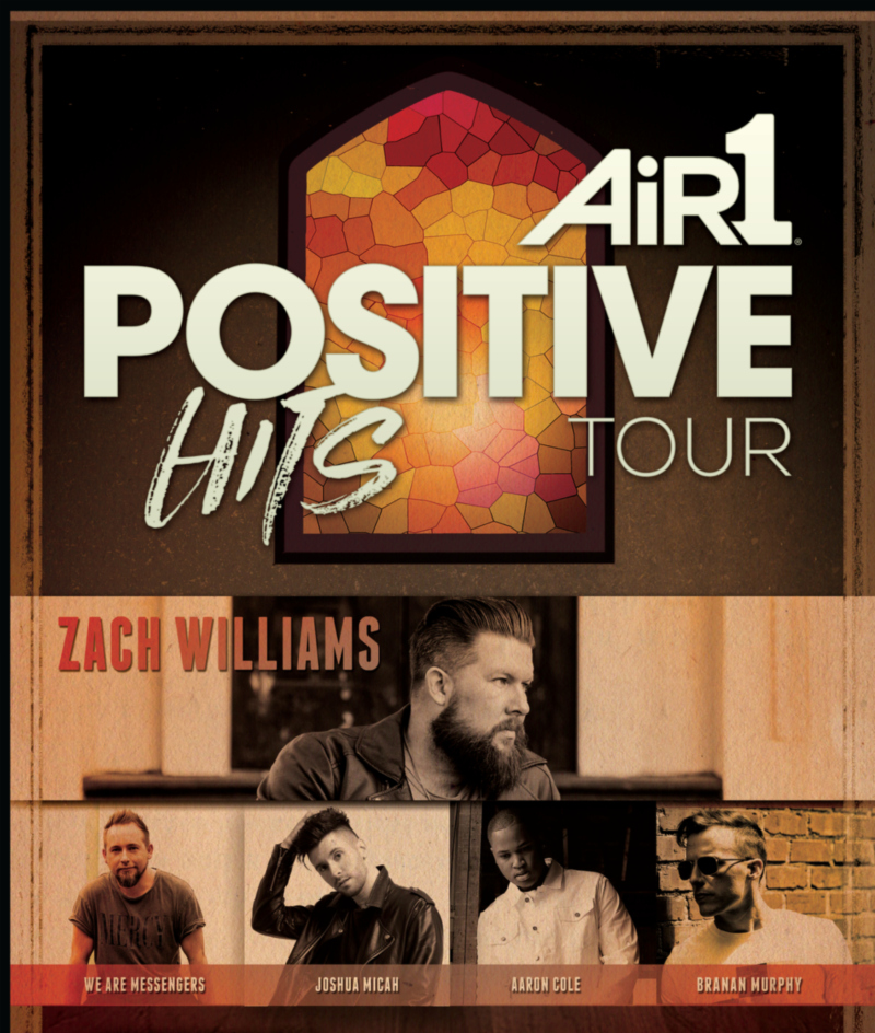 Image for AIR1 POSITIVE HITS TOUR featuring Zach Williams, We Are Messengers, Joshua Micah, Aaron Cole & Branan Murphy