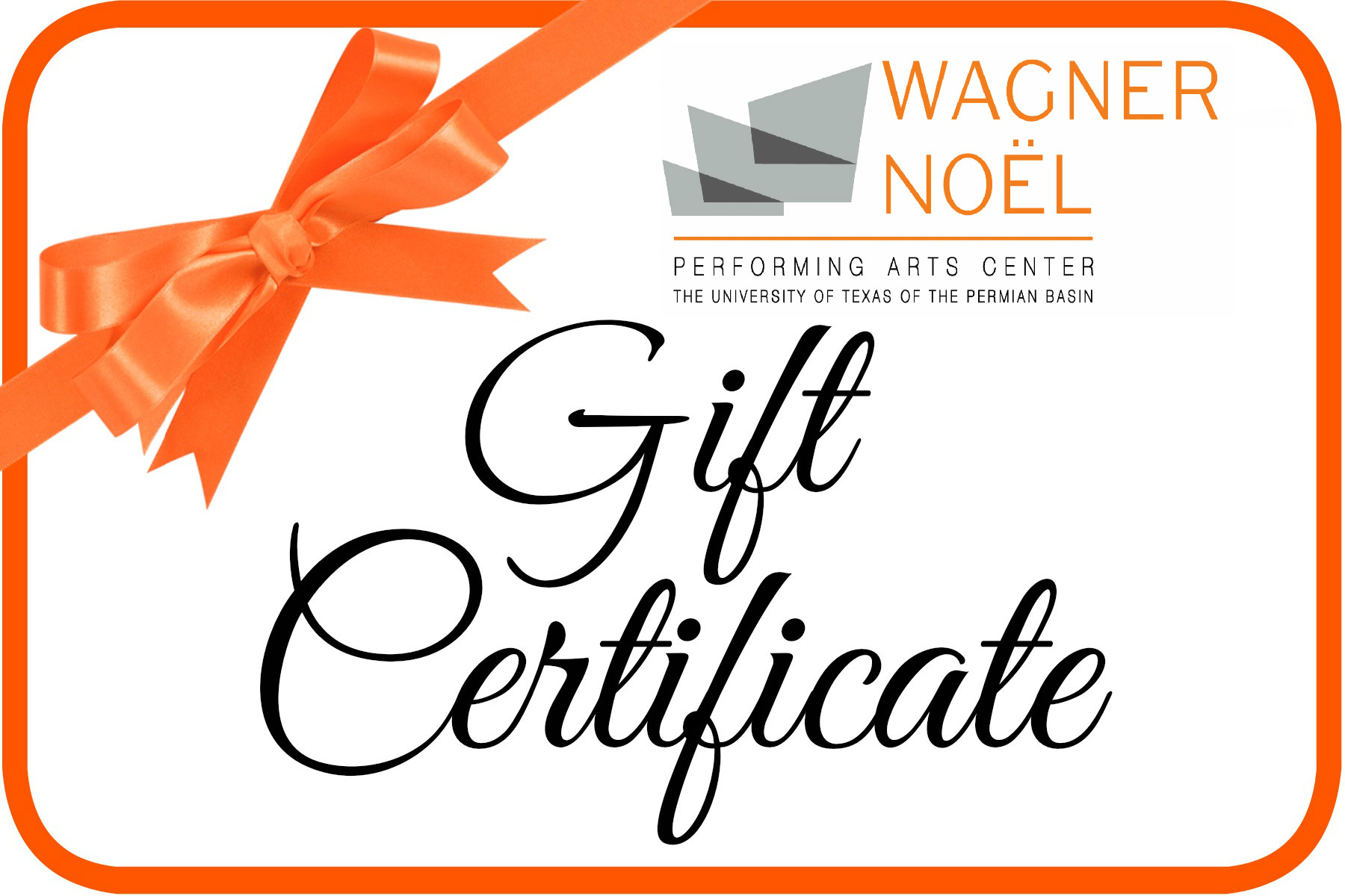 Image for Wagner Noël Gift Certificate - 2018