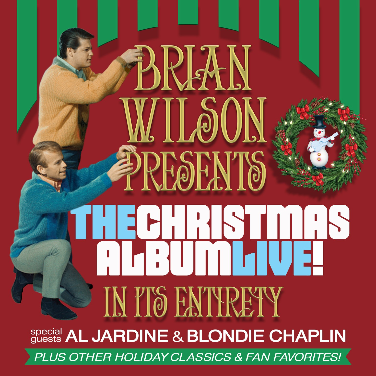 Image for BRIAN WILSON presents THE CHRISTMAS ALBUM LIVE with special guests AL JARDINE & BLONDIE CHAPLIN