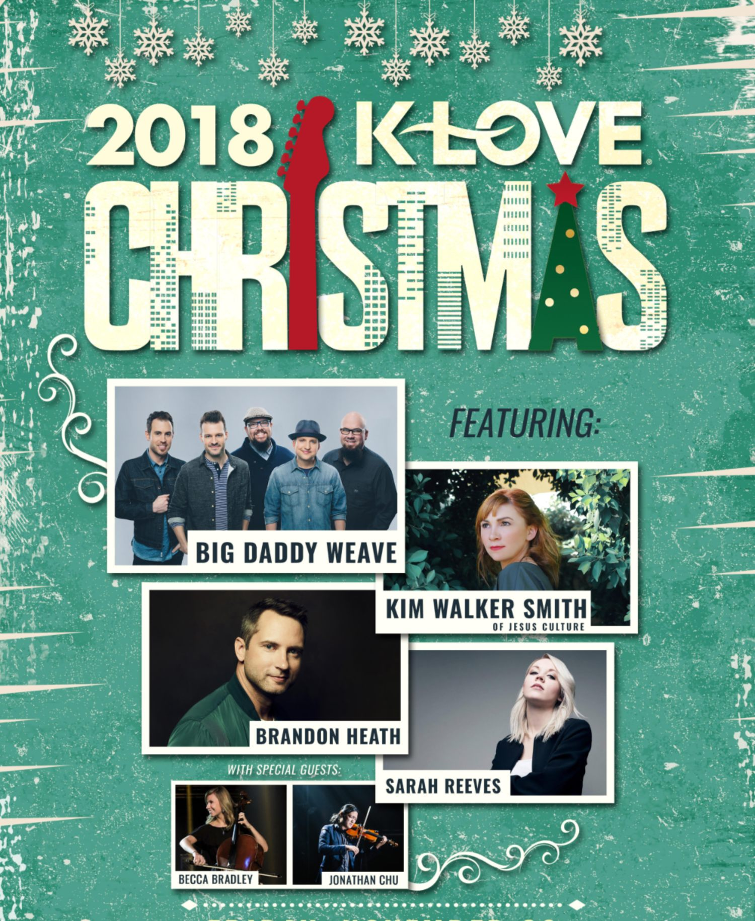 Image for KLOVE CHRISTMAS TOUR feat. Big Daddy Weave, Kim Walker Smith, Brandon Heath, Sarah Reeves, Becca Bradley & Jonathan Chu