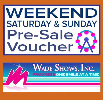 Image for Wade Show's Advance Sale Weekend (1-Day) Ride Voucher (Saturday-Sunday)
