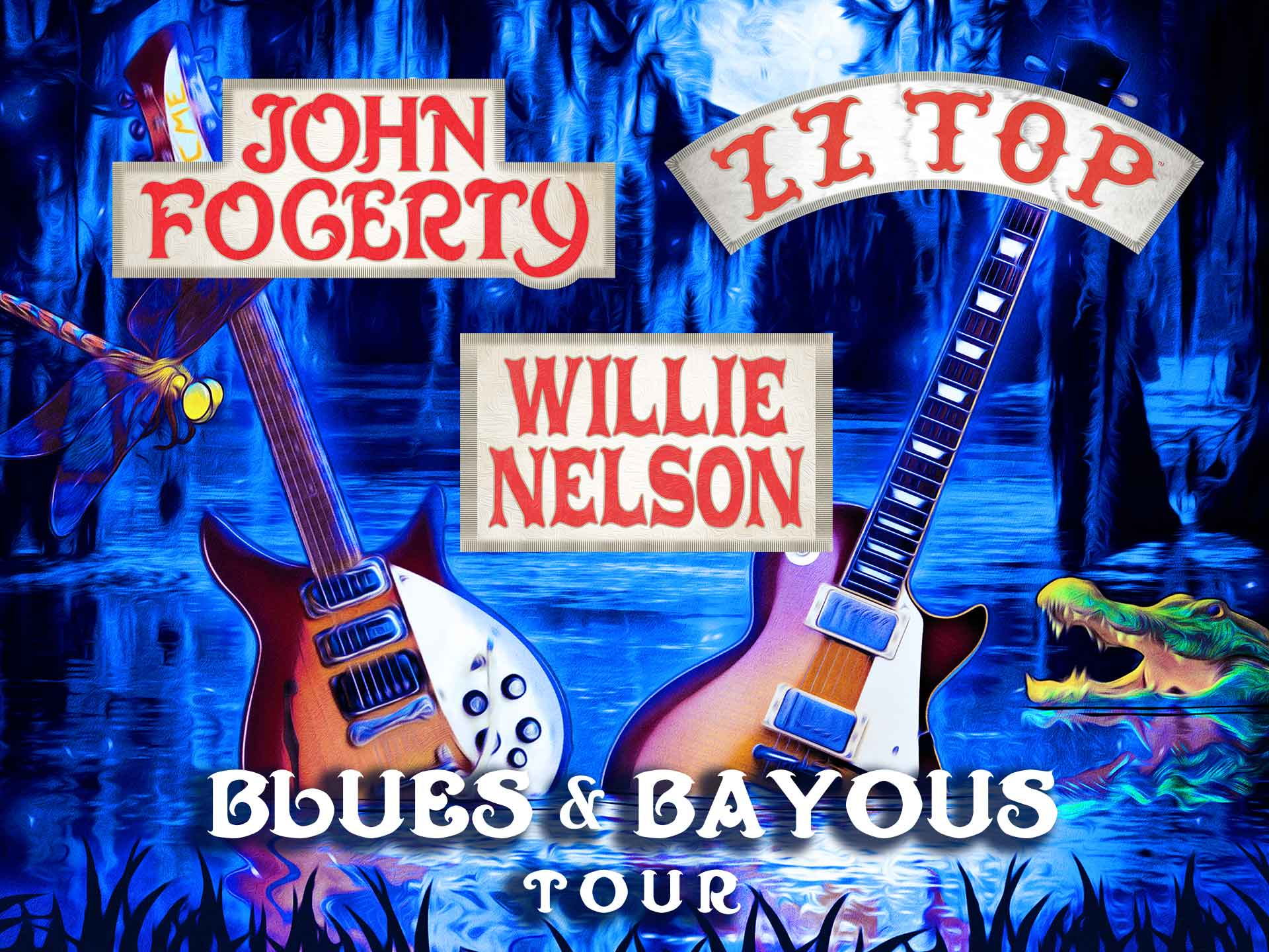Image for JOHN FOGERTY / ZZ TOP / WILLIE NELSON - Tuesday, June 26, 2018 (OUTDOORS)