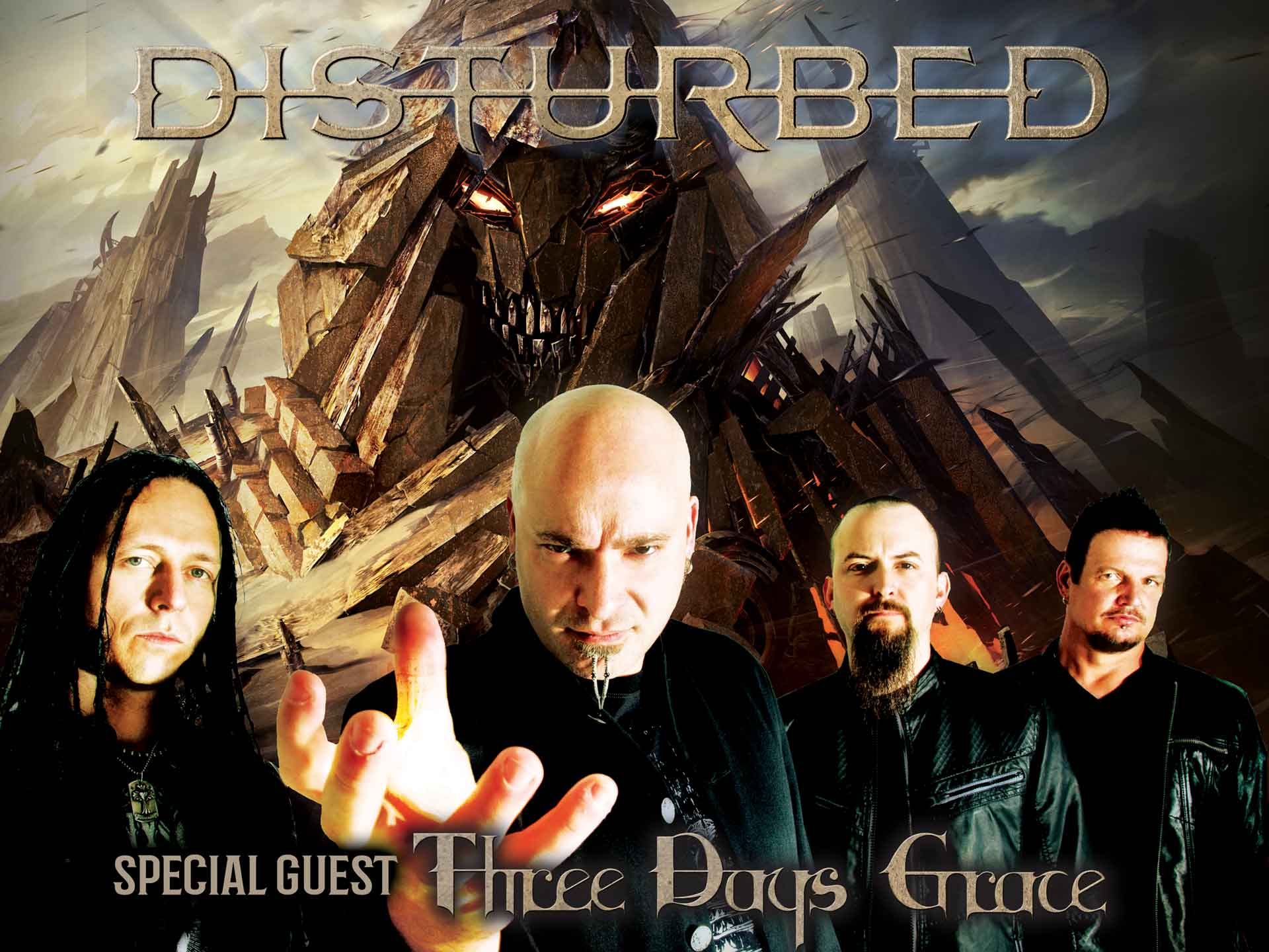 Image for DISTURBED wsg THREE DAYS GRACE - Thursday, July 12, 2018 (OUTDOORS)
