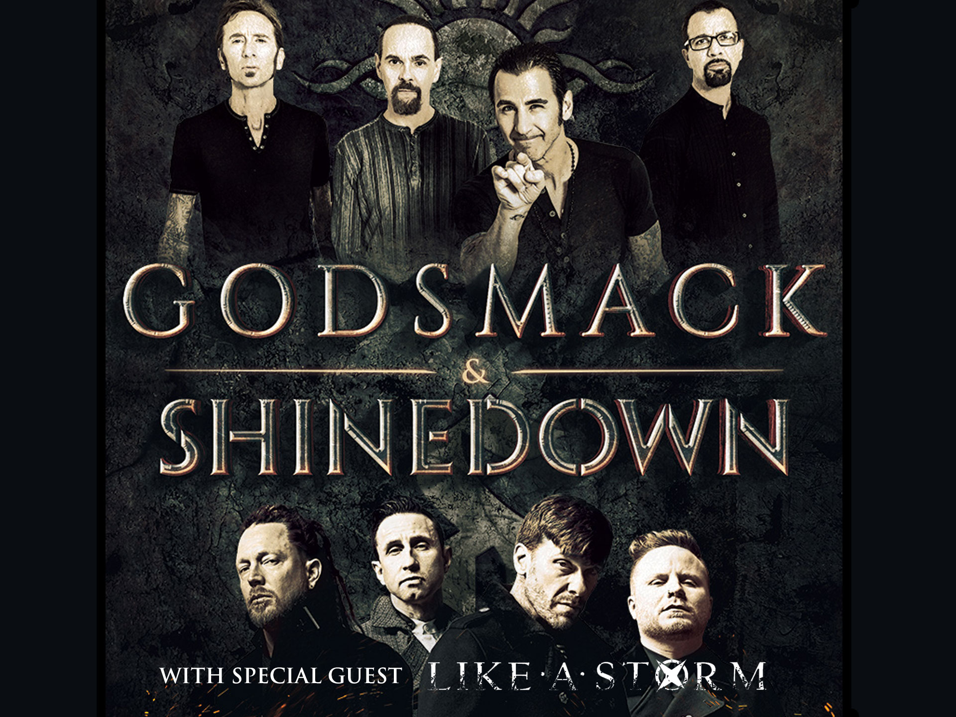 Image for GODSMACK / SHINEDOWN wsg Like A Storm - Wednesday, July 25, 2018 (OUTDOORS)