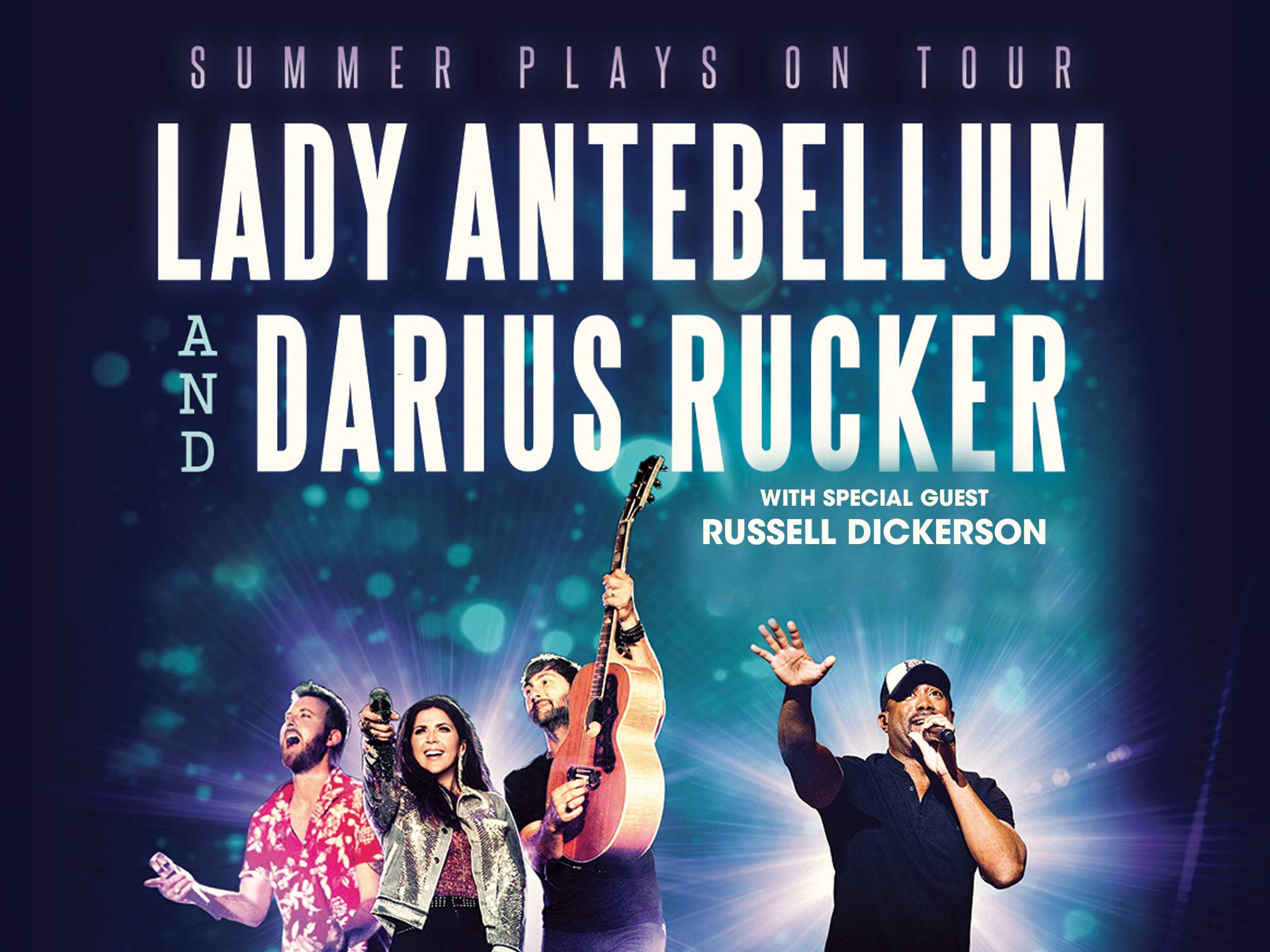 Image for LADY ANTEBELLUM & DARIUS RUCKER: SUMMER PLAYS ON TOUR wsg Russell Dickerson - Sunday, September 2, 2018 (OUTDOORS)