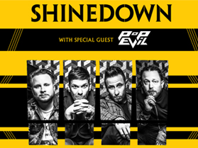 Image for SHINEDOWN wsg POP EVIL - Saturday, August 1, 2020 (OUTDOORS)
