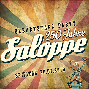 Image for 250 Jahre SALOPPE!!! - Geburtstagsparty mit Kopfhörerdisko & Hot Party Pampel Shakers