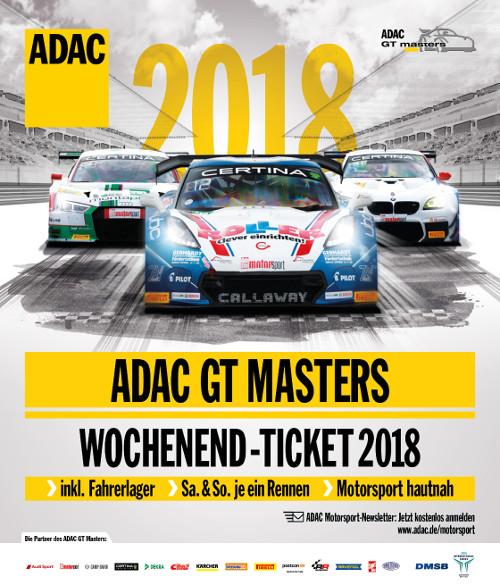 Image for ADAC GT Masters 2018 - Wochenendticket - Freitag bis Sonntag (03.08.-05.08.2018)