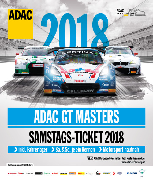 Image for ADAC GT Masters 2018 - Tagesticket Samstag (04.08.2018)