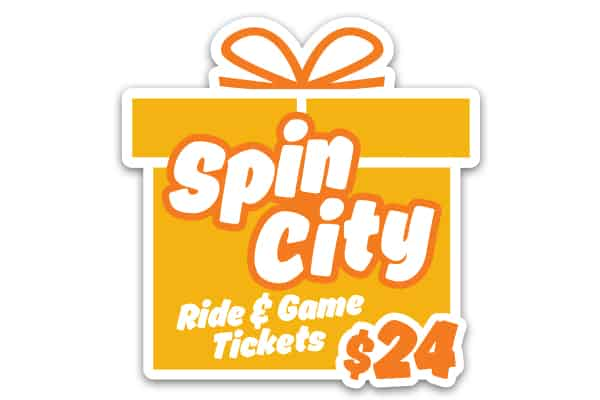 Image for SpinCity 40-Ticket Sheet Voucher