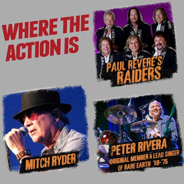 Image for Mitch Ryder and Paul Revere's Raiders, and Peter Rivera
