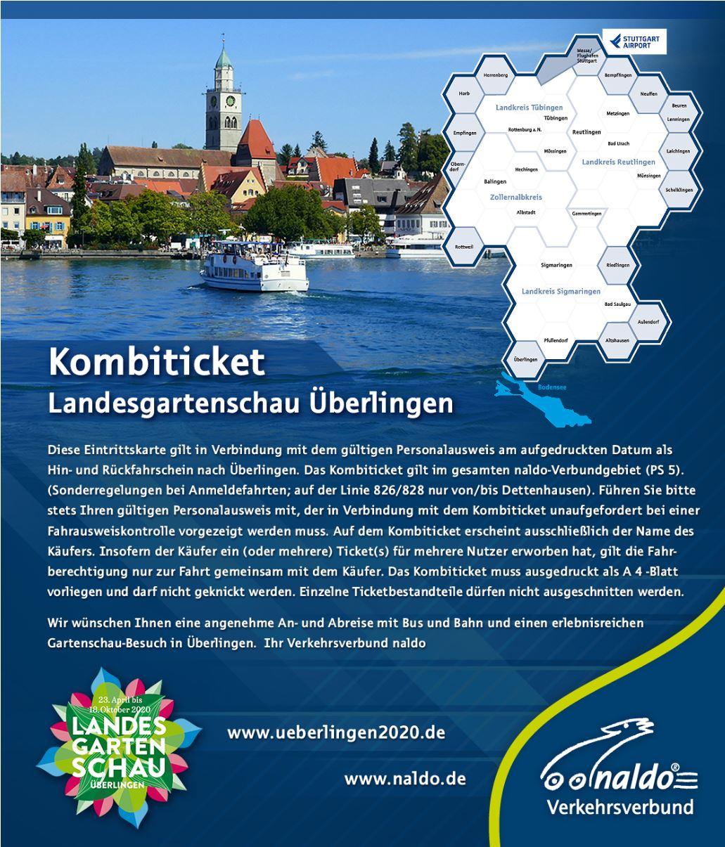 Image for Kombiticket LGS Überlingen + naldo Verkehrsverbund Neckar-Alb-Donau