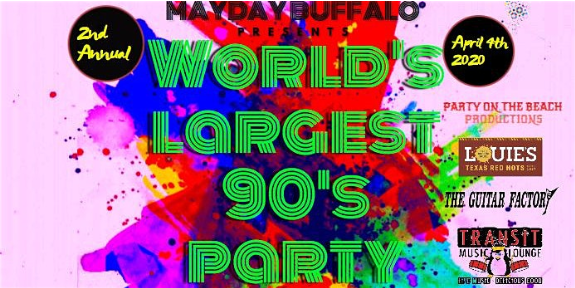 Image for POSTPONED: 2ND ANNUAL WORLD'S LARGEST '90s PARTY