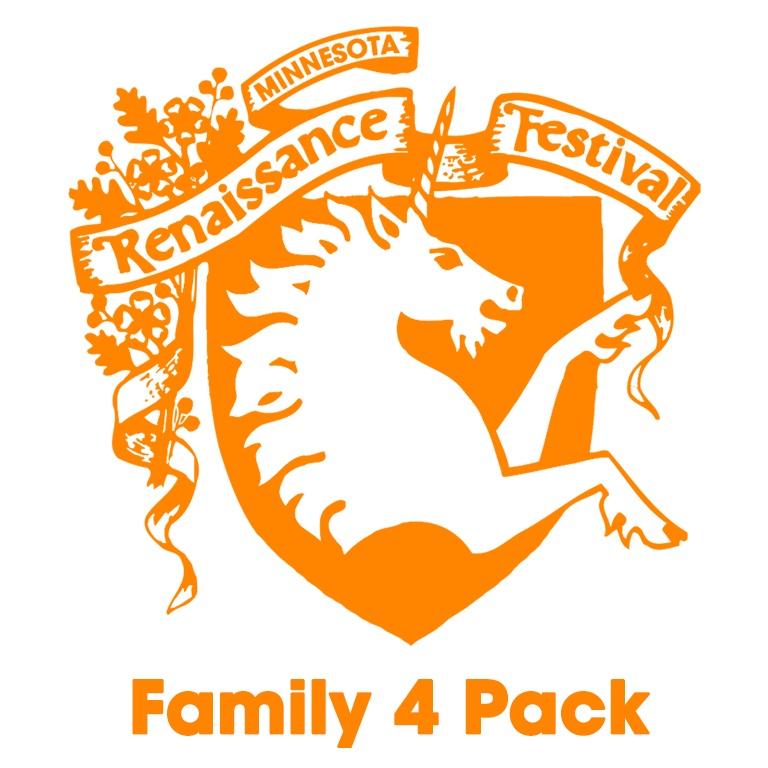 Image for *Renaissance Festival Family 4 Pack- General Admission