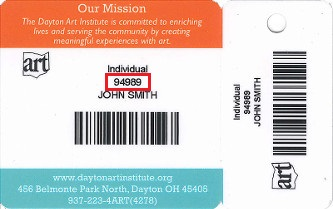 Dayton Art Institute Membership Card